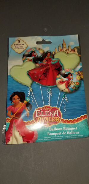 New disney elena avalor mylar balloon bouquet for Sale in Lemon Grove, CA