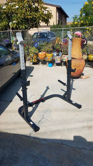 Olympic Squat rack with safety spotters and plate holders New in box for Sale in Montebello, CA