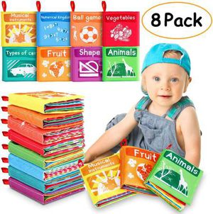 Baby Cloth Books, My First Non-Toxic Soft Cloth Book Early Education Toys Gifts Crinkle Book for Babies Infants, Toddlers Touch Feel Activity, Baby B for Sale in Pomona, CA