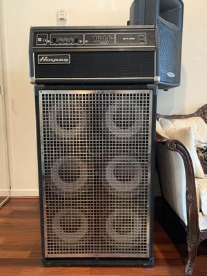 Ampeg Bass Head (solid state) w/ SWR 6x10 bass can (1000 watts) for Sale in San Jose, CA