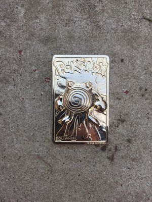 Limited Edition Golden Burger King Poliwhirl Card for Sale in Schaumburg, IL