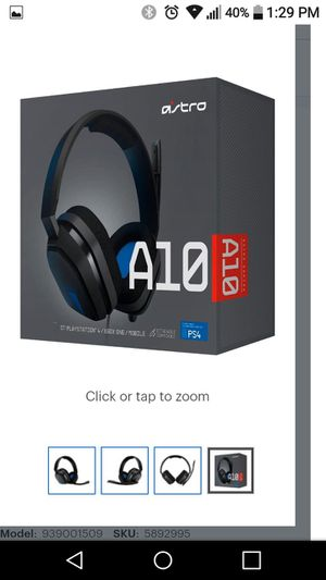 Astro A10 PS4 Gaming headset for Sale in San Bernardino, CA