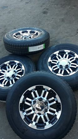 trailer wheels & tires 6 lugs 4 new st225 75 r15$660 for Sale in Escondido,  CA