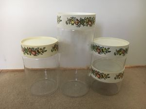 Vintage Pyrex clear glass canisters set Spice Of Life for Sale in La Cañada Flintridge, CA