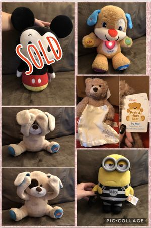 Stuffed Animals (see prices below) for Sale in Flat Rock, MI