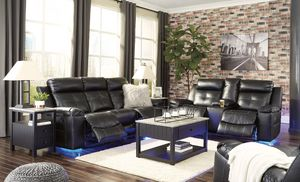 New recliner sofa and loveseat with lights for Sale in Henrico, VA