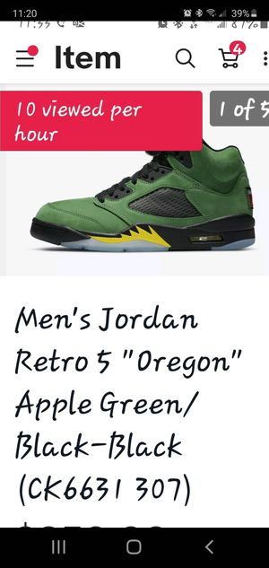 Jordan retro 5 Oregon for Sale in Kissimmee, FL