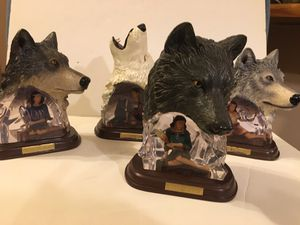 Bradford Exchange Soul of the Wild Collection Wolf Statues for Sale in Gaffney, SC