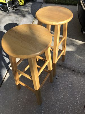 Wood stools pair for Sale in Orlando, FL