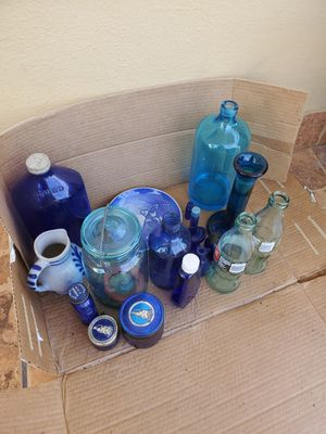 Lot of Vintage Blue Glass Bottle Squibb, Collectable Coke Bottles for Sale in HALNDLE BCH, FL
