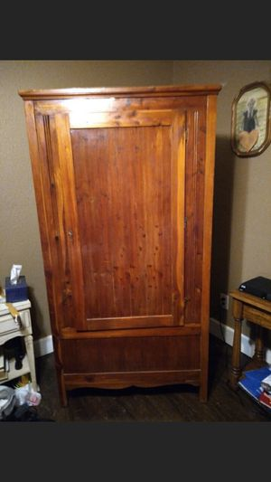 Antique armoire. With key for door for Sale in Houston, TX
