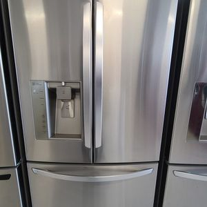 Lg Stainless Steel French Door Refrigerator Used Good Condition With 90day's Warranty for Sale in Washington, DC