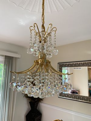 Gold & Crystal Chandelier for Sale in Sully Station, VA