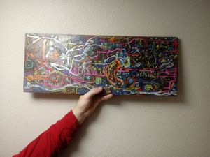 Abstract Art on Teak Wood for Sale in Denver, CO