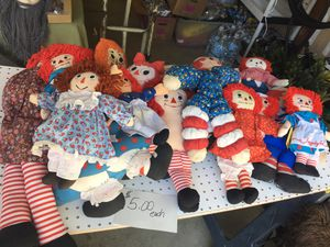 Old Raggedy Ann and Andy Dolls for Sale in Martinez, CA