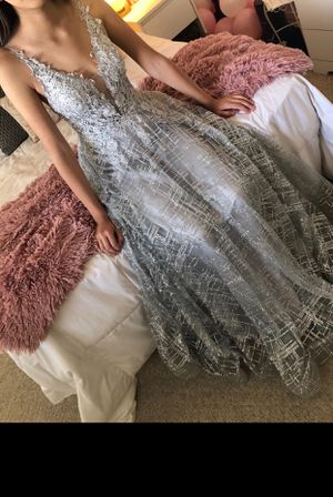 silver prom dress for Sale in Fowler, CA