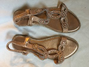 Sparkly women's shoes - size 8 - wedding Easter spring event sandals for Sale in Tempe, AZ