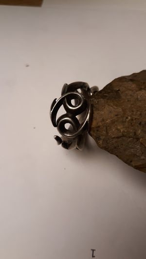 STERLING SILVER RING SZ10 BIKER,GOTHIC,BRUTALIST STYLE WIDE DETAILED RING for Sale in Phoenix, AZ