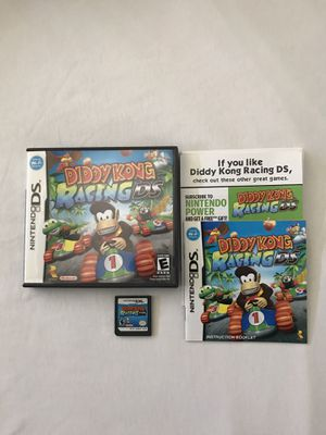 Nintendo DS Diddy Kong Racing Complete Plays Fine Also Playable On 2Ds 3Ds Systems for Sale in Reedley, CA