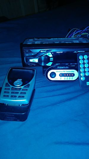 Bluetooth Car stereo with remote, JVC Sirius Satilite 📻 reciever, Wireless FM Transmitter for Sale in Philadelphia, PA