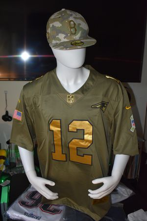Patriots jersey,Military.Salute to service. Pick up or ship. for Sale in Boston, MA