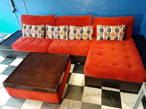 Fancy red sectional couch for Sale in Renton, WA