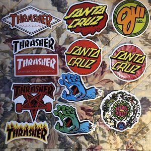 Skateboard Stickers Santa Cruz, Thrasher for Sale in North Ridgeville, OH