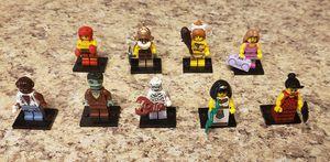 Lego Toys Minifigure Mini Figure Lot of 9 Series 3 4 5 6 100% Complete for Sale in Aurora, CO