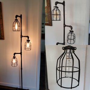 Industrial Steel Handmade Floor Lamp w/ Three Lights for Sale in Grove City, OH