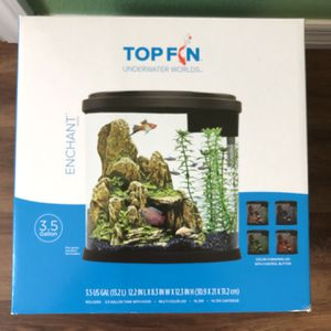 Fish tank and decor for Sale in Dover, FL