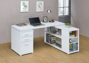 New L-shaped All White Office Desk for Sale in Cayce, SC