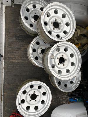 6 15 inch aluminum trailer wheels for Sale in Davenport, FL