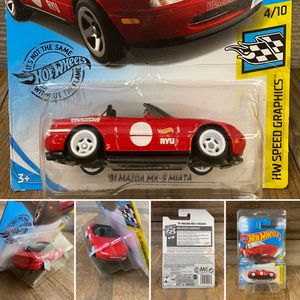 REPACKAGED CUSTOM 1/64 1:64 Scale '91 Miata (Lowered+camber on premium 5-spoke white wheels) for Sale in Orange, CA