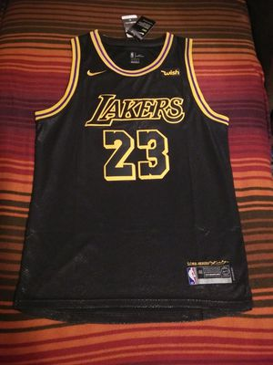 New LeBron James Black Mammba City Edition Lakers Jersey for Sale in Keysville, VA