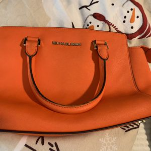 Orange Small Leather Shoulder Michael Kors Bag for Sale in Lexington, SC