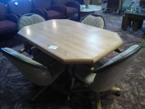 Table with 4 Rolling Chairs for Sale in Fort Wayne, IN
