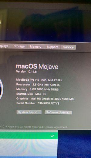 MacBook Pro 13 inch mid 2013 for Sale in Gilbert, AZ