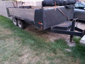 7 x 14 dump trailer pintle hitch tandem 8 lug for Sale in Columbus, OH