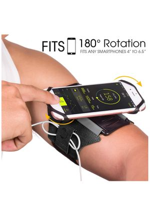 Running Armband for iPhone X/ iPhone 8 Plus/ 8/ 7 Plus/ 6 Plus/ 6, Galaxy S8/ S8 Plus/ S7 Edge, Note 8 5, Google Pixel, 180° Rotatable with Key Hold for Sale in Huntington Park, CA