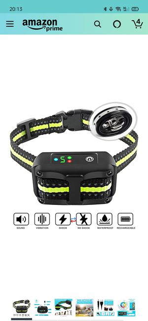 uthen Bark Collar Barking Control Training Collar with Beep Vibration and No Harm Shock(5 Adjustable Sensitivity Control) for Sale in Fresno, TX
