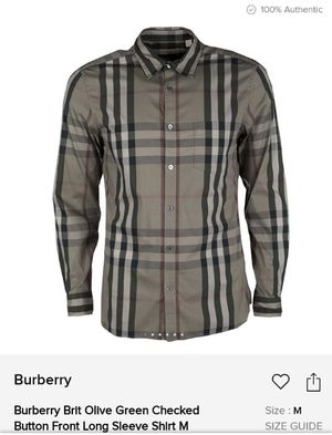 Burberry shirt for men for Sale in Jurupa Valley, CA