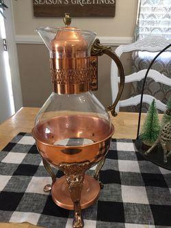 Vintage Carafe glass and metal copper vintage Pyrex vintage Corning Ware for Sale in Orange,  CA