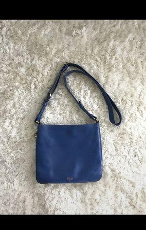 Fossil Royal Blue Leather Crossbody for Sale in Abilene, TX