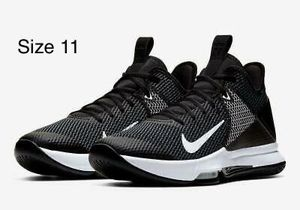 Nike LeBron Witness 4 Basketball Shoes BV7427-001 Black/White Size 11 for Men for Sale in West Covina, CA