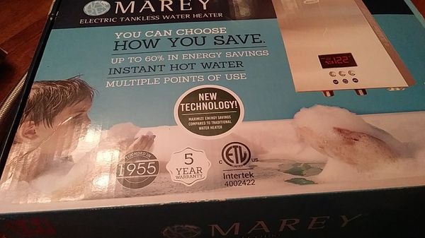 Marey tankless water heater