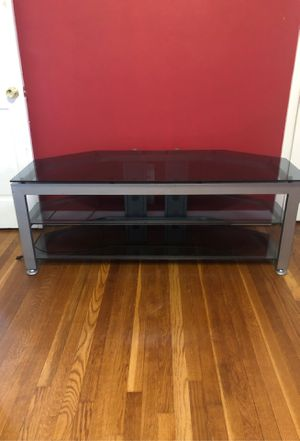 TV entertainment stand glass ( used) for Sale in Hampton, VA