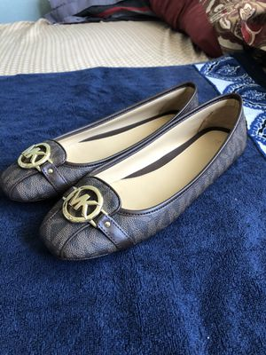 Womens Brown Leather Michael Kors Logo Shoes for Sale in San Diego, CA