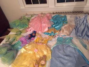 Disney dresses/light up shoes, Bell, Tinker Bell, Little Mermaid for Sale in Fort Lee, NJ