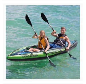 Intex Challenger K2 Kayak 2 person with Oar and Air Hand Pump for Sale in Boston, MA