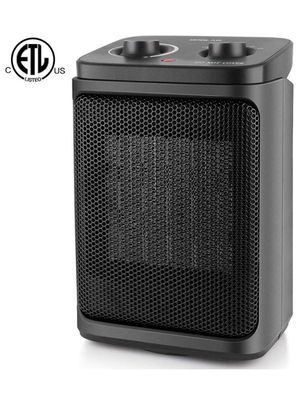 NEW!! Portable Ceramic Space Heaters with Adjustable Thermostat, 800/1500W, Oscillating Mode, Compact Quiet Personal Small Electric Floor Heater Safe for Sale in Los Angeles, CA